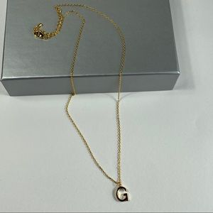 Jewelry - Letter G  Gold Dipped Initial Necklace